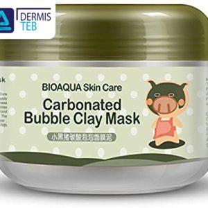 ماسک حبابی اکسیژن درمانی پوست بیوآکوا bioaqua little black pig bubble mask mud