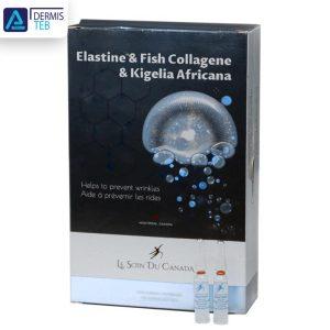 سرم ضد چروک پوست لوسوئن مدل Le Soin Du Canada Collagen Elastine & Fish Collagen & Kigelia Africana