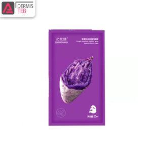 ماسک درخشان کننده سیب زمینی بنفش ژنتامی Zhentaimei Purple Potatoes Healthy Glow Beautiful Skin Mask